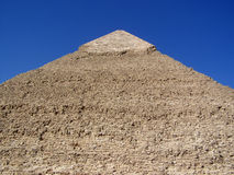 Close-up of Khafre Pyramid Stone Shape and Limestone Cap Royalty Free Stock Photos