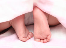 Close-up kids foot pure Royalty Free Stock Photography