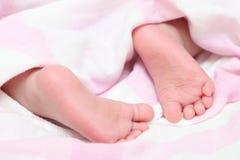 Close-up kids foot pure Stock Photos