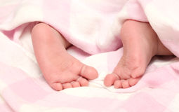 Close-up kids foot pure Stock Photography