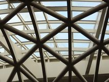 Close up of kings cross roof Royalty Free Stock Images