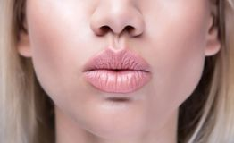Close Up Kissing Lips Royalty Free Stock Photos