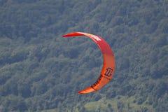 Close-up of kitesurfing sail Royalty Free Stock Photo