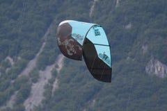 Close-up of kitesurfing sail Royalty Free Stock Image