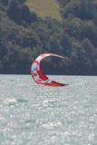 Close-up of kitesurfing sail Stock Photo