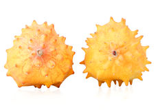 Close up of kiwano fruits Royalty Free Stock Images
