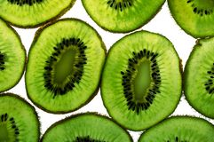 Close up of kiwi fruit slices Stock Image