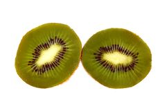 Close up of kiwi fruit slices Stock Photography