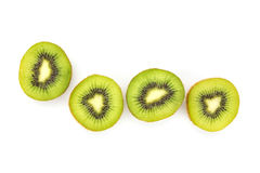 Close up kiwi fruits and slice kiwi fruits Royalty Free Stock Image