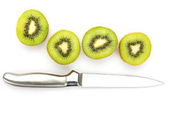 Close up kiwi fruits and slice kiwi fruits Stock Photos