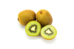 Close up kiwi fruits and slice kiwi fruits Royalty Free Stock Images