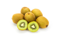 Close up kiwi fruits and slice kiwi fruits Stock Photo