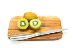 Close up kiwi fruits and slice kiwi fruits Royalty Free Stock Photo