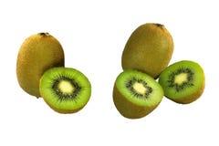 Close-up Kiwi fruits on white background. royalty free stock images