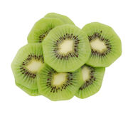 Close up of kiwi slices Stock Photography