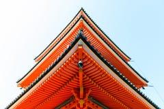 Close-up of Kiyomizu-dera buddist temple in Kyoto Royalty Free Stock Images