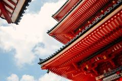 Close-up of Kiyomizu-dera temple in Kyoto, Japan stock image