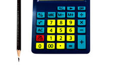 Close-up kleurrijke calculator Royalty-vrije Stock Fotografie