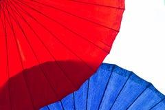 Close-up Kleurrijke die paraplu in het Nieuwjaarfestival wordt verfraaid stock foto