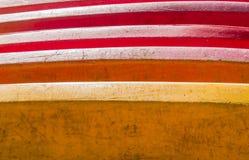 Close-up kleurrijke oude kajak Royalty-vrije Stock Fotografie