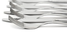 Close up of a knife and fork Stock Photos