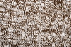 Close up on knit woolen fabric texture. stock photography
