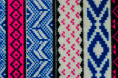 Close up on knit woolen texture. Stock Images