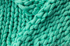 Close-up of knitted blanket Stock Image