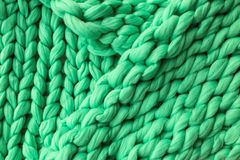 Close-up of knitted blanket. Merino wool background Stock Images