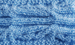 Close-up of knitted cloth with vegetable tracery Stock Images