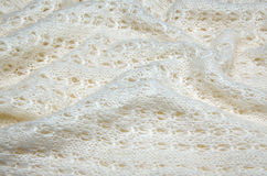 Close up of a knitted white woolen sweater Royalty Free Stock Image