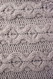 Close-up of knitted wool texture Royalty Free Stock Images