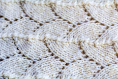 Close-up of knitted wool texture. Stock Image
