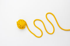 Close up of knitting on white background Stock Images