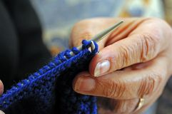 Close up of knitting. Stock Photography