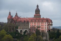Close up on Ksiaz castle near Walbrzych in Poland Stock Photos