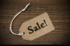 Close Up Of Label With Text Sale Royalty Free Stock Photos