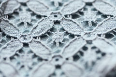 Close up of lace textile or fabric background Stock Image