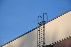 Close-up ladder to roof Royalty Free Stock Photos