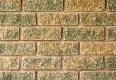 Close up of laid brick in two tone color of red and moss green Royalty Free Stock Photo