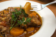 Close up of lamb stew dish Royalty Free Stock Photos