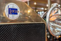Lancia Lambda Torpedo 1923. Close up of a Lancia Lambda Torpedo 1923 Royalty Free Stock Images