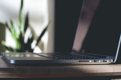 Close-up of a Laptop Royalty Free Stock Photography