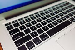 Close-up of Laptop Keyboard Royalty Free Stock Images