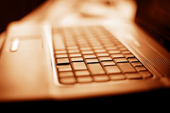 Close-up laptop with shallow DOF Royalty Free Stock Image