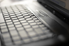 Close-up Laptop With Shallow DOF. Photo Of Close-up Laptop With Shallow DOF Royalty Free Stock Photo