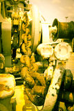 Close up of large anchor chain-  Stock Photo