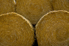Close-up of a large bail of hay Royalty Free Stock Images