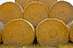 Close-up of a large bail of hay Stock Images