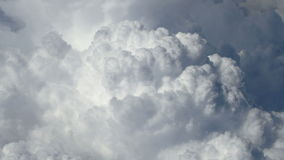 Close up large clouds top view. stock footage